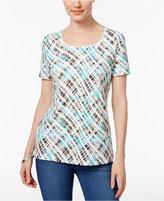 Karen Scott Petite Printed T-Shirt, Only at Macy's