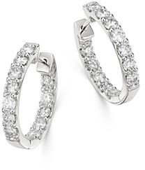 Bloomingdale's Diamond Oval Inside Out Hoop Earrings in 14K White Gold, 2.0 ct. t.w. - 100% Exclusive