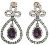 LeVian 14K Rose Gold Rhodalite Garnet Diamond Dangle Earrings