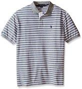 U.S. Polo Assn. Men's Big & Tall Slim-Fit Micro Shadow Stripe Polo Shirt