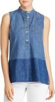 Lauren Ralph Lauren Color-Block Denim Shirt