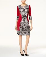 JM Collection Printed Sheath Dress, Created for Macy's