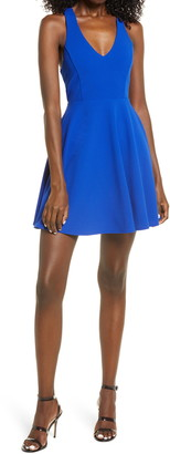 Lulus Katrina Strappy Back Skater Dress