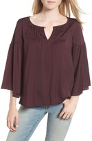 Hinge Women's Satin Bell Sleeve Top