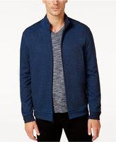 Alfani Men's Two-Tone Zipper Jacket, Mock Collar