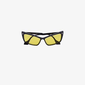 Gucci Black and Yellow Cat Eye Sunglasses