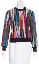 Saint Laurent Mohair-Blend Patterned Sweater