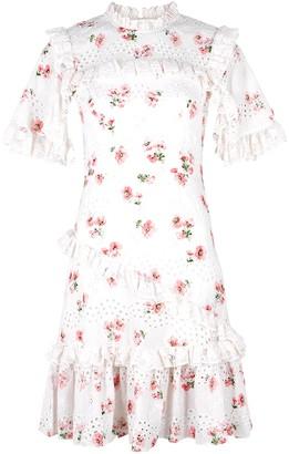 Needle & Thread Desert Rose lace-trimmed cotton-blend mini dress