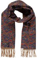 Salvatore Ferragamo Reversible Silk & Cashmere Scarf