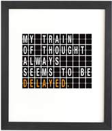 Deny Designs Train of Thought Wall Art by Matt Leyen (Framed)