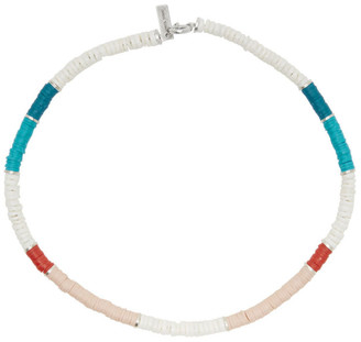 Isabel Marant White and Pink Beaded Choker