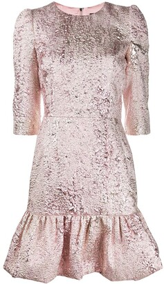Dolce & Gabbana Lame Jacquard Short Dress