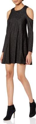 BCBGeneration Women's Cold Shoulder Long Sleeve Dress