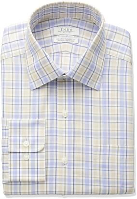 Enro Men's Tailored Fit Non-Iron Cotton Plaid Dress Shirt