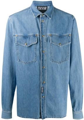 Versace Jeans Couture Plain Denim Shirt