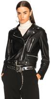 Acne Studios Mock Leather Jacket in Black.
