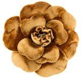 Chanel Velvet Camellia Brooch