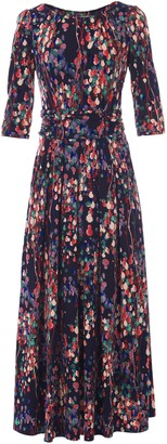 Wallis **Jolie Moi Blue Printed Fit and Flare Dress