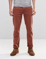 Asos Stretch Slim Jeans In Rust