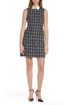 Eliza J Boucle Plaid Sequin Shirt Collar Dress (Petite)