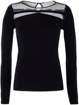 Morgan Jersey and Plumetis Lace Top