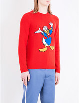 Gucci Donald Duck-intarsia knitted wool jumper