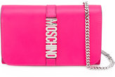Moschino Letters clutch - women - Leather - One Size