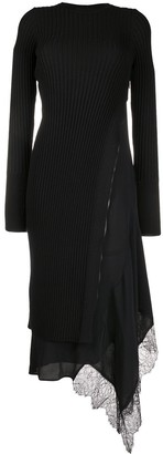 No.21 Ribbed-Knit Side-Zip Dress