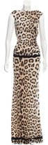 Roberto Cavalli Leopard Print Evening Dress