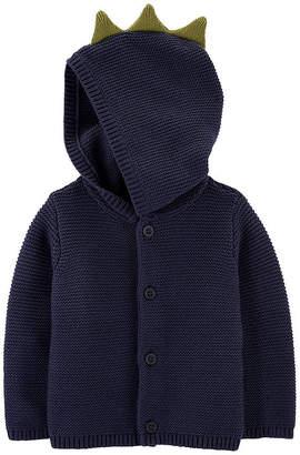 Carter's Boys Hooded Neck Long Sleeve Cardigan - Baby