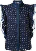 Manoush ruffled geometric shape blouse - women - Cotton/Polyester - 36