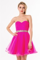 Terani Couture 1522H0133A Charming Strapless A Line Cocktail Dress