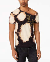 GUESS Men's Bleached Graphic-Print T-Shirt