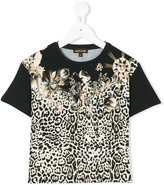 Roberto Cavalli leopard print T-shirt - kids - Cotton/Spandex/Elastane/Modal - 6 yrs