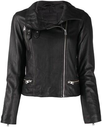 AllSaints Fitted Biker Jacket