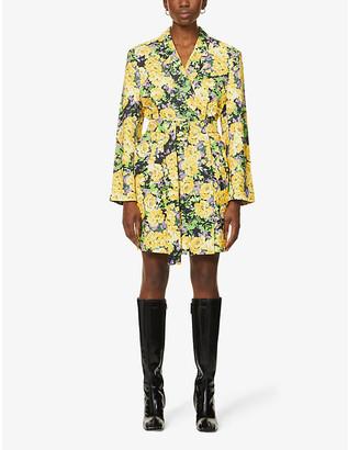 Gestuz Fleur floral-print woven blazer mini dress