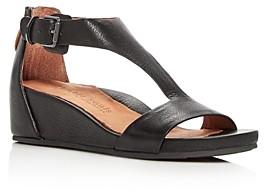 Gentle Souls by Kenneth Cole Gentle Souls Women's Gisele Leather Platform Wedge Sandals