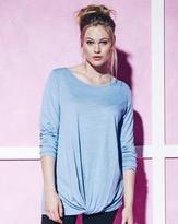 Label Be Loose Fit Knotted T-Shirt With Long Sleeves