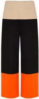 Rosetta Getty Cropped Tricolour Trousers