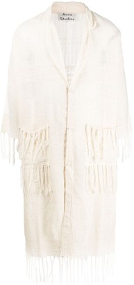Acne Studios Fringed Long Cardigan