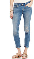 Levi's 711 Destructed Woven Stretch Ankle Skinny Jeans
