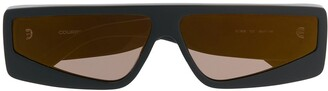 Courrèges Eyewear Square-Frame Tinted Sunglasses
