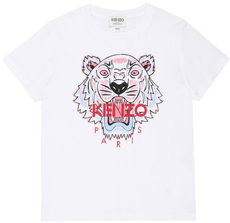 Kenzo Kids Tiger cotton T-shirt
