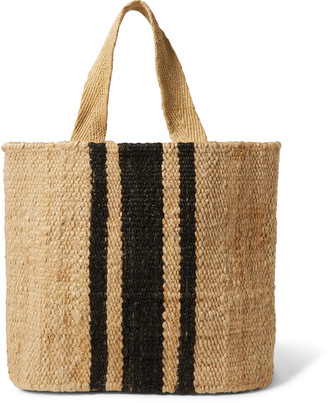 James Perse Playa Striped Hemp Tote Bag
