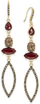 INC International Concepts Gold-Tone Mixed-Stone Linear Earrings, Only at Macy's