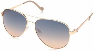 Jessica Simpson Women's J5596 Iconic Metal UV Protective Aviator Sunglasses | All-Season | A Glam Gift 60 mm