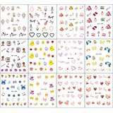S C Products S&C 12Sheet Multi-Design Tatto Nail Art Water Transfer Stickers Nail Tips Decoration