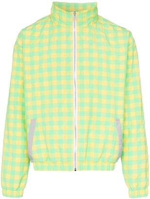 Duoltd Check Print Zipped Jacket