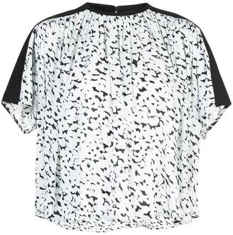 Proenza Schouler Short Sleeve Printed Top
