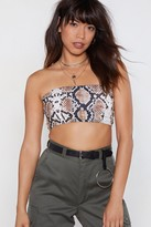 Nasty Gal Talking Snake Bandeau Top